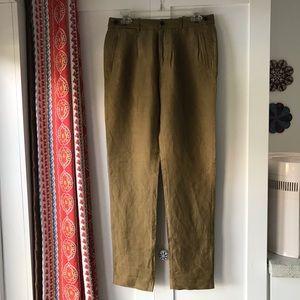 MADEWELL Linen & Silk Trousers